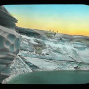 Cover image of [3 climbers on glacier, Lake of the Hanging Glacier]
