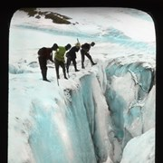 Cover image of [Group of Alpine Club of Canada climbers looking into crevasse]