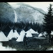 Cover image of [Camp near the foot of Takakkaw Falls]