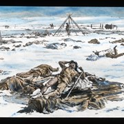 Cover image of [Painting depicting the aftermath of a battle in First Nations camp]