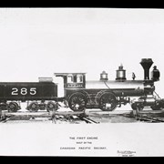 Cover image of The first engine built by the Canadian Pacific Railway