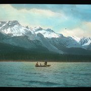Cover image of At the lower end of Maligne Lake
