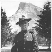 Cover image of Banff, Canada. Sergeant, Royal Northwest Mounted Police. Mt. Rundle / 27047