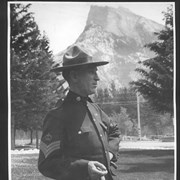 Cover image of Banff, Canada. Sergeant, Royal Northwest Mounted Police. Mt. Rundle / 27048