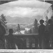 "Cover image of Banff, Canada. View of Bow River valley from ""Hotel Banff Springs"" / 27050"