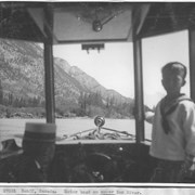 Cover image of Banff, Canada. Motor boat on upper Bow River / 27051