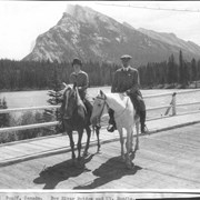 Cover image of Banff, Canada. Bow River Bridge and Mt. Rundle / 27053