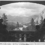 Cover image of Banff, Canada. Bow River Valley from hotel / 27057