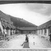 Cover image of Banff, Canada. Cave and Basin. Main government pool, warm sulphur water / 27109