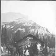 Cover image of In Camp at White Man's Pass / 27135