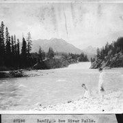 Cover image of Banff, Bow River Falls / 27198