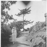 Cover image of Lady Barnard in the rock garden at the back of the Government House / 27835