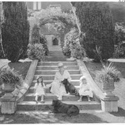 Cover image of Lady Barnard in the sunken garden of the Government House / 27830