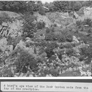 Cover image of A bird's eye view of the Rock Garden made from the top of the precipice / 27934