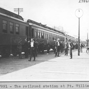 Cover image of The railroad station at Ft. William / 27991