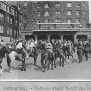 Cover image of Indian Day. Indians visit Banff Springs Hotel / 27310