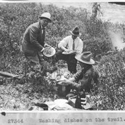 Cover image of Washing dishes on the trail / 27344