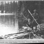 Cover image of A raft on the lake, Alpine Camp, Yoho Valley / 27611
