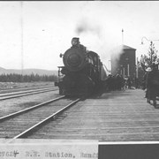 Cover image of R. R. station, Banff / 27624