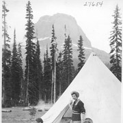 Cover image of Alpine Club camp scenes, Summit Lake, Yoho Valley / 27654