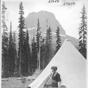 Cover image of Alpine Club camp scenes, Summit Lake, Yoho Valley / 27652