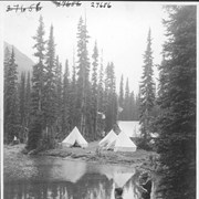 Cover image of Alpine Club camp scenes, Summit Lake, Yoho Valley / 27656