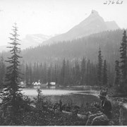 Cover image of Alpine Club camp scenes, Summit Lake, Yoho Valley / 27663