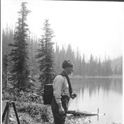 Cover image of A. 0. Wheeler, head of Alpine Club & camera used for mapping work in mountains by Canadian Government / 27670