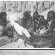Cover image of Canada. Hudson Bay. Cape Dufferin. Esquimos trading their white foxes at a Revillon Freres Post / 38886