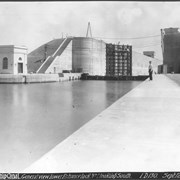 Cover image of Canada. The Welland Ship Canal. General view of the lower entrance, Lock No. 1, looking south / CN192