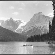 Cover image of Canada. The Rockies. Emerald Lake seen from the Chalet veranda / CN150