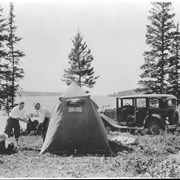 Cover image of Canada. Riding Mountain National Park. Auto campers at Clear Lake / CN213