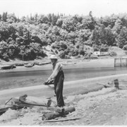 Cover image of Canada. New Brunswick near St. John. Building a boat spar on the Bay of Funday near St. John / CN22 :  [Bay of Fundy]
