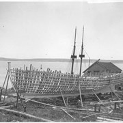 Cover image of Canada (Nova Scotia). Fishing schooner being built near Shelburne on Nova Scotia's South shore / CN271