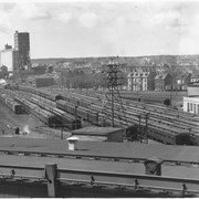 Cover image of Canada. Nova Scotia. Halifax. The freight and passenger terminal and the new grain elevators in the distance / CN99