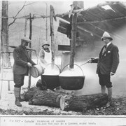 Cover image of Canada. Province of Quebec. Boiling the sap in a Quebec sugar bush / 50907