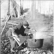 Cover image of Canada. Province of Quebec. Boiling the maple sap out-of-doors / 50910