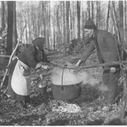 Cover image of Canada. Province of Quebec. Boiling the maple sap out-of-doors / 50912