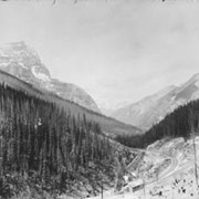 Cover image of Kicking Horse Canon, near Field B.C. / On Line of Canadian Pacific Railway. 18-31