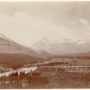 Cover image of Bow River Valley, Banff Alba / On Line of Canadian Pacific Railway. 16-70