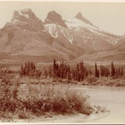 Cover image of Three Sisters, Canmore Alba / On Line of Canadian Pacific Railway. 16-22