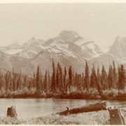 Cover image of Wind Mountain and Bow River from Gap, Alba / On Line of Canadian Pacific Railway. 16-12