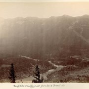 Cover image of Banff Hotel & Sulphur Mt. 7420 from top of Tunnel Mt.