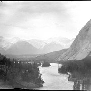 Cover image of Bow River and Mt. Inglesmaldie from band stand, Banff (No.20). 7/5/94