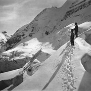 Cover image of [Edward Feuz and Rudolf Aemmer on Victoria Glacier?]