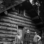 Cover image of Edward Feuz, Professor Charles Fay and Dr. Hickson at Fay Hut