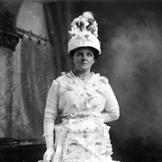 "Cover image of [Fanny Fowles, wife of George ""Ockey"" Fowles in costume, Banff - Mrs. Fowles won prizes for her elaborate costumes]"