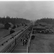 Cover image of Banff Station from top of old water tank about 1913-14?