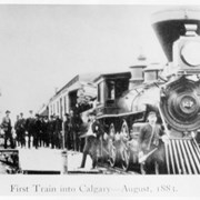 Cover image of First Train into Calgary - August, 1883
