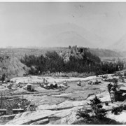 Cover image of Anthracite Village looking west - Stoney Squaw and Mt. Norquay in distance, Cascade Mt. on right